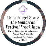 The Gomorrah Festival Freak Show | Daughter of the Burning City by Amanda Foody | 200ml Soy Wax Candle