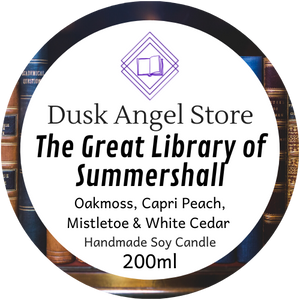 The Great Library of Summershall | Sorcery of Thorns by Margaret Rogerson | 200ml Soy Wax Candle