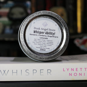 Whisper Ability | Whisper by Lynette Noni | 200ml Soy Wax Candle