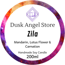 Load image into Gallery viewer, Zila | Aurora Rising by Amie Kaufman & Jay Kristoff | 200ml Soy Wax Candle
