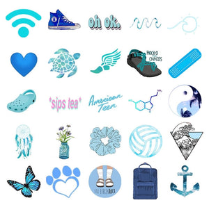 Blue VSCO Stickers