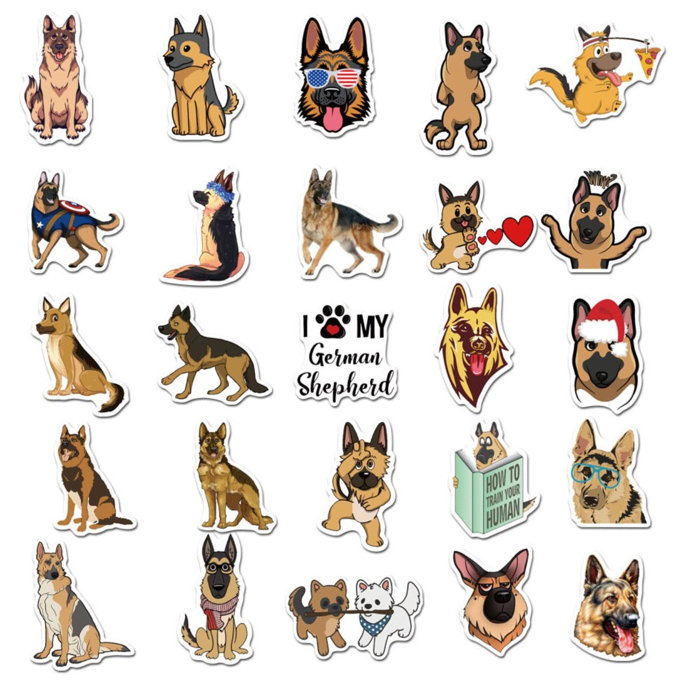 German Shepherd VSCO Stickers