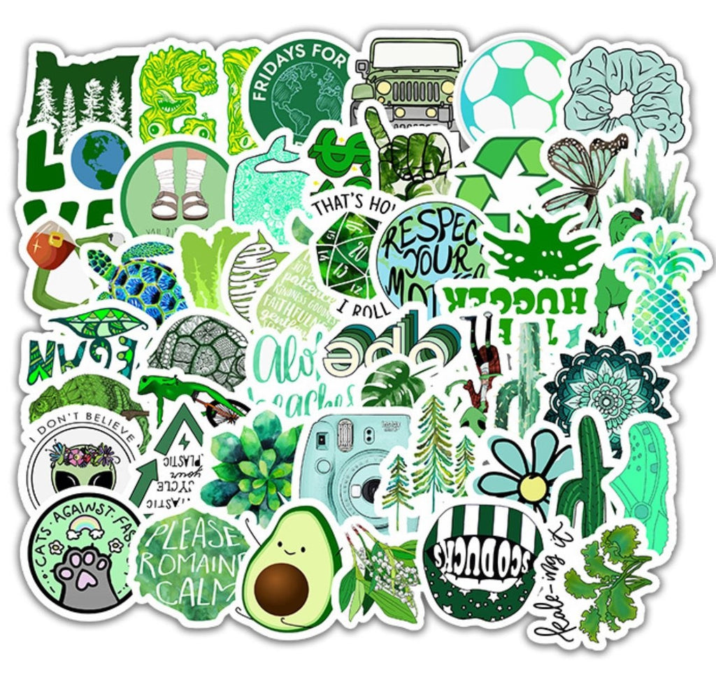 Green VSCO Stickers