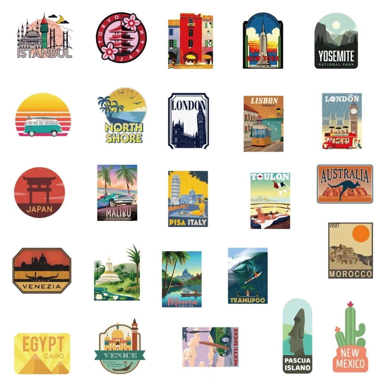Travel VSCO Stickers