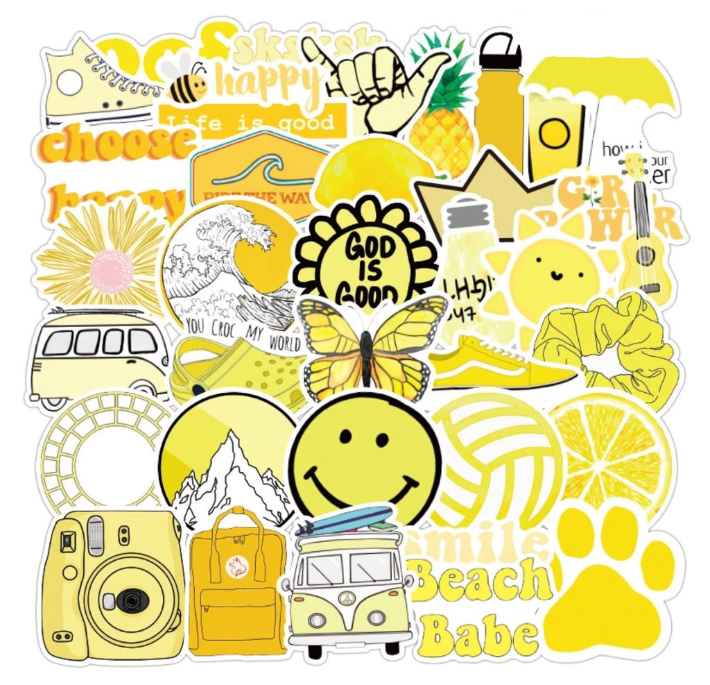 Sunshine Yellow VSCO Stickers