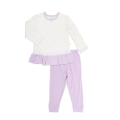 Hearts - Long-sleeve Pyjamas Set with cuffed pants - Simply Life