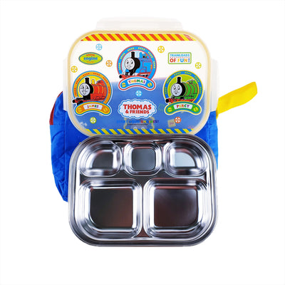 Thomas & Friends - Stainless food tray with Pouch - Lock Style