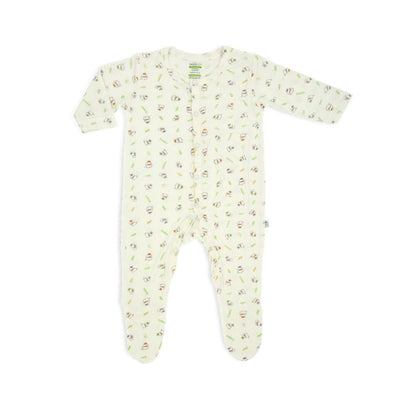 3 Little Lambs Blessed - Long-sleeved Button Front Sleepsuit with Footie by simplylifebaby
