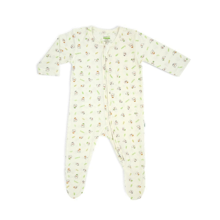 3 Little Lambs Blessed - Long-sleeved Zip-up Sleepsuit with Footie by simplylifebaby