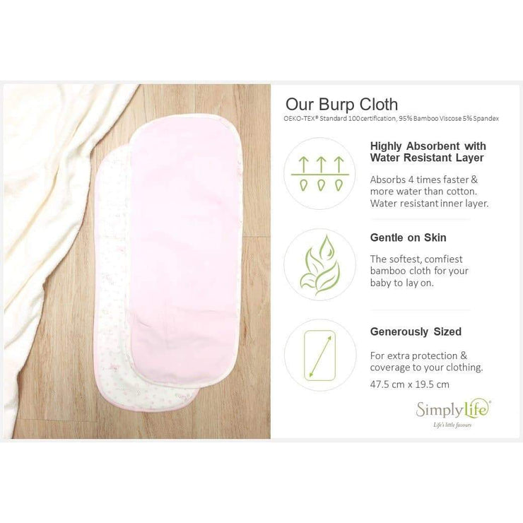 ABC Train - Baby Burp Cloths (Pack of 2)