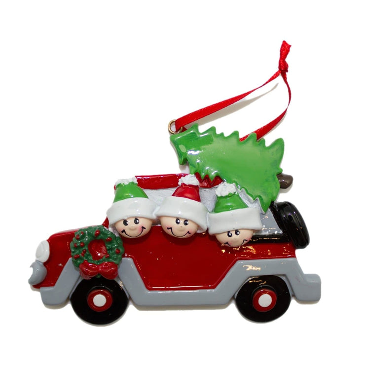 Car - Christmas Ornament (Suitable for Personalization)