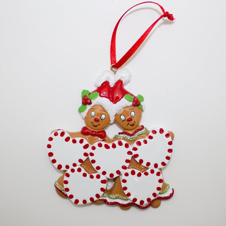 Gingerbread Man Hearts - Christmas Ornament (Suitable for Personalization)