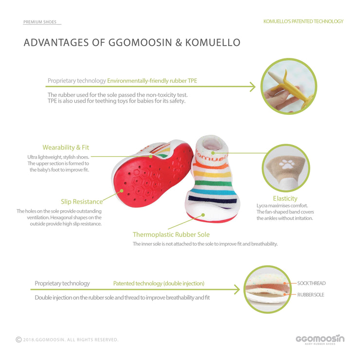 Ggomoosin - Round & Round Baby Shoes