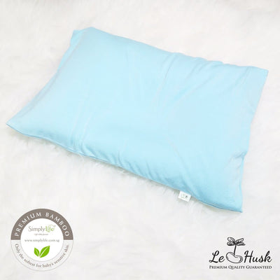 Le Husk x SL - Anti Flat Head Bean Sprout Husk Pillow + Bamboo Cover (Blue)