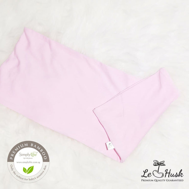 Pink - Baby Bamboo Pillow Cover (Simply Life x Le Husk) - Anti Flat Head