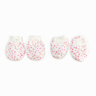 Floral - Mittens & Booties Set