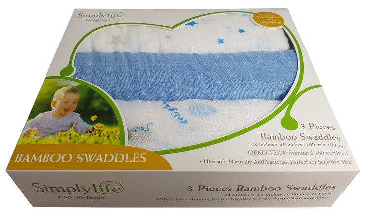 Swaddle - Blue Ballons - 3-pc Box Set