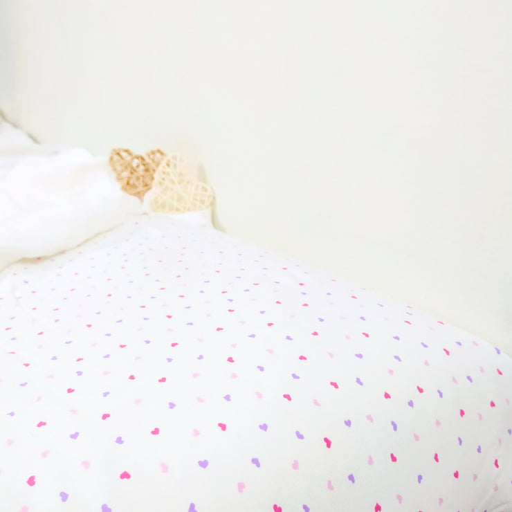 Hearts - Fitted Crib Sheet