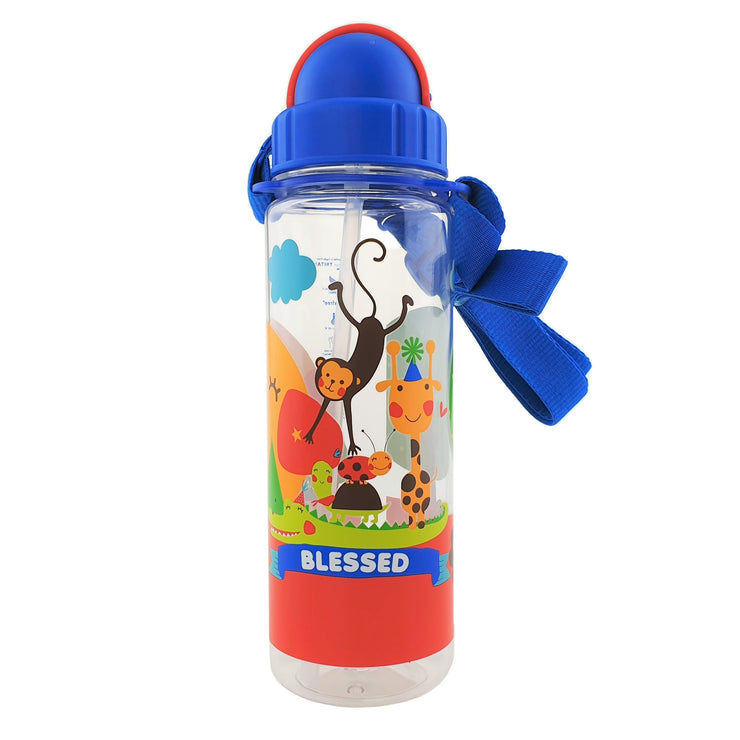 Blessed Animals - 450 ml bottle with straw lid and strap - Simply Life