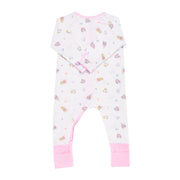 Princess 2 - Long-sleeved Zipper Sleepsuit with Folded Mittens & Footie