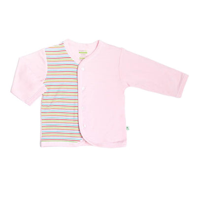 Stripes - Pink Long-sleeved Button Front Vest