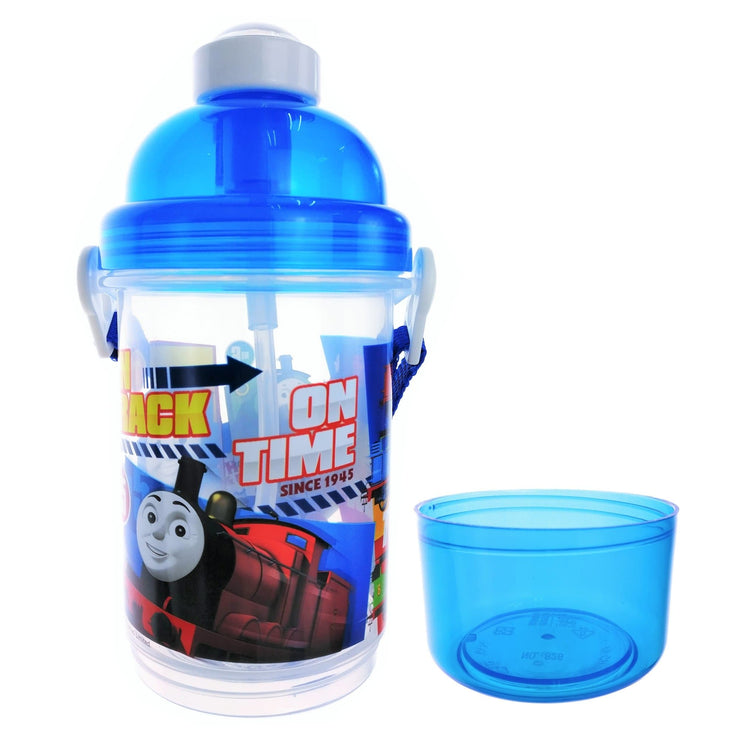 Thomas & Friends - 350ml Push Cap Canteen with Detachable Snack Container (BPA Free) - 2 Designs
