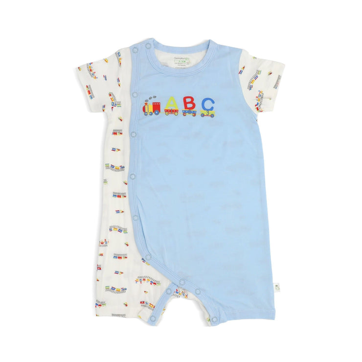 ABC Train - Shortall with Side Snap Button by simplylifebaby