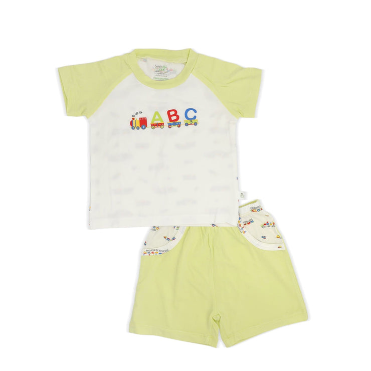ABC Train - Shorts & Tee Set by simplylifebaby
