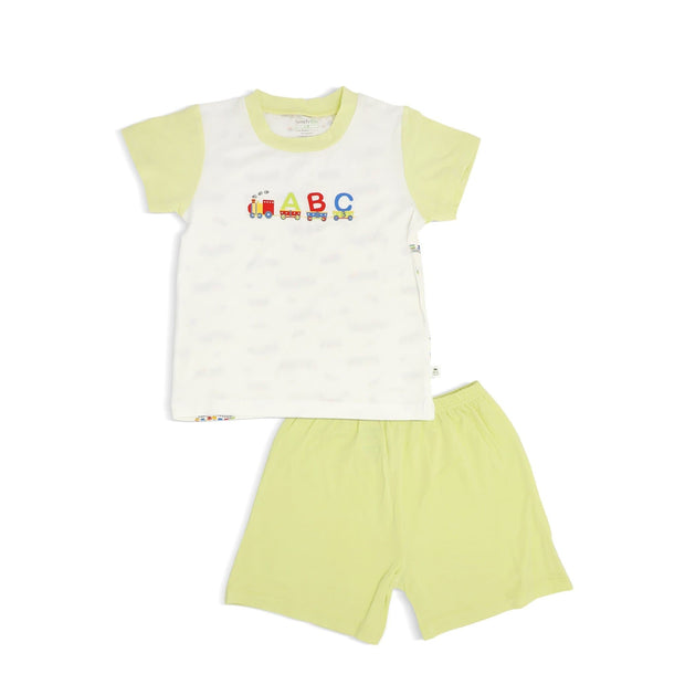 ABC Train - Shorts & Tee Set with Spot Print by simplylifebaby
