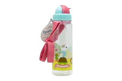 Adorable - 450 ml Water Bottle with Straw Lid and Strap - Simply Life