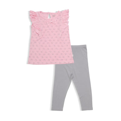 Adorable Lamb - Blouse with Puff Sleeves & Legging (2-pc set) by simplylifebaby