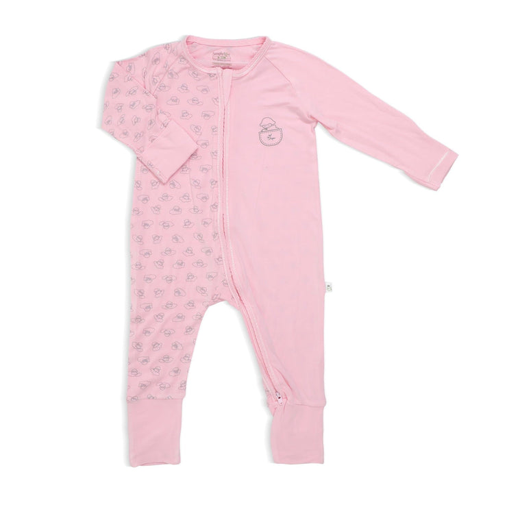 Adorable Lamb - Long-sleeved Zipper Sleepsuit with Folded Mittens & Footie by simplylifebaby