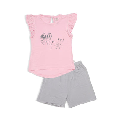 Adorable Lamb - Shorts & Tee with Cap-sleeves Set by simplylifebaby