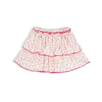 AOP Floral - Skirt with Double Ruffles and Roll Edged by simplylifebaby