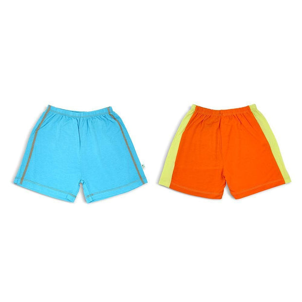 Aqua/Grey & Lime/Orange - Shorts (2-Pack Set) by simplylifebaby