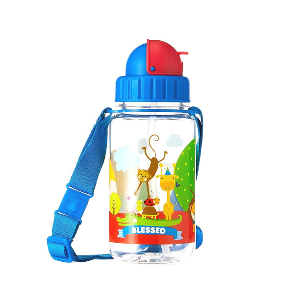 Blessed - 350 ml Water Bottle with Straw Lid and Strap - Simply Life
