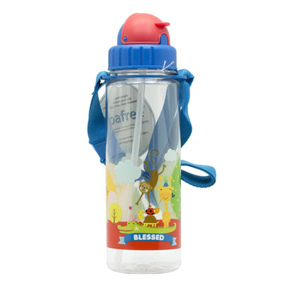 Blessed - 450 ml Water Bottle with Straw Lid and Strap - Simply Life