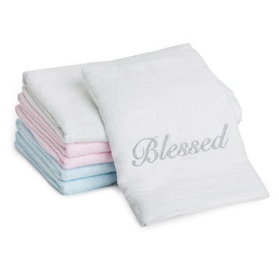 Blessed - Embroidered Bamboo Towel (120x60 cm) - Simply Life
