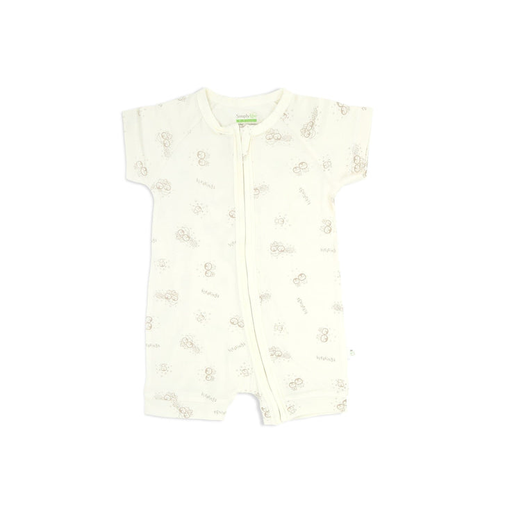 Blessed Penguin - Short-sleeved Shortall with Zipper - Simply Life