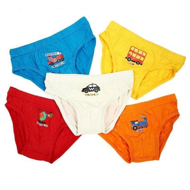 Boys Briefs - Awesome Vehicle (5-Pack Set) Underwear (nett) by simplylifebaby