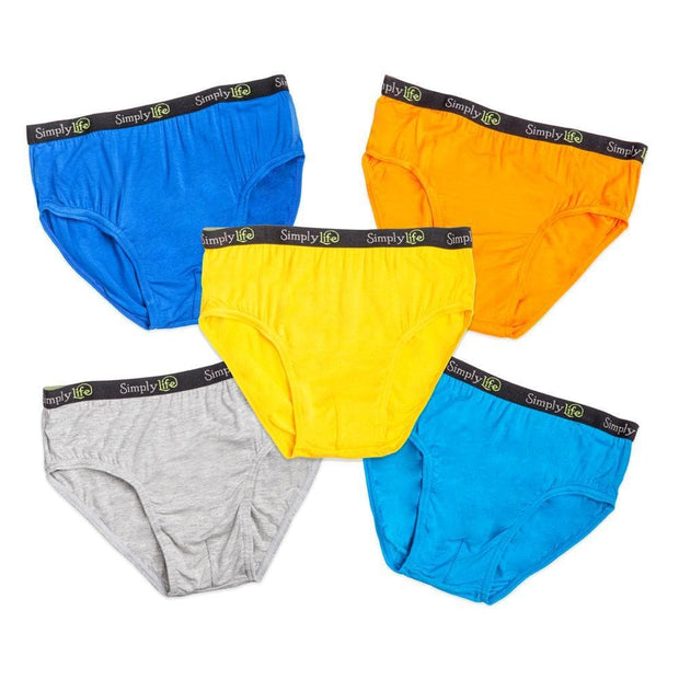 Boys Briefs with Jacquard Elastic Band (5-Pack Set) - Simply Life