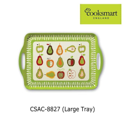 Cooksmart - Apples and Pears Design Large Melamine Tray - Simply Life