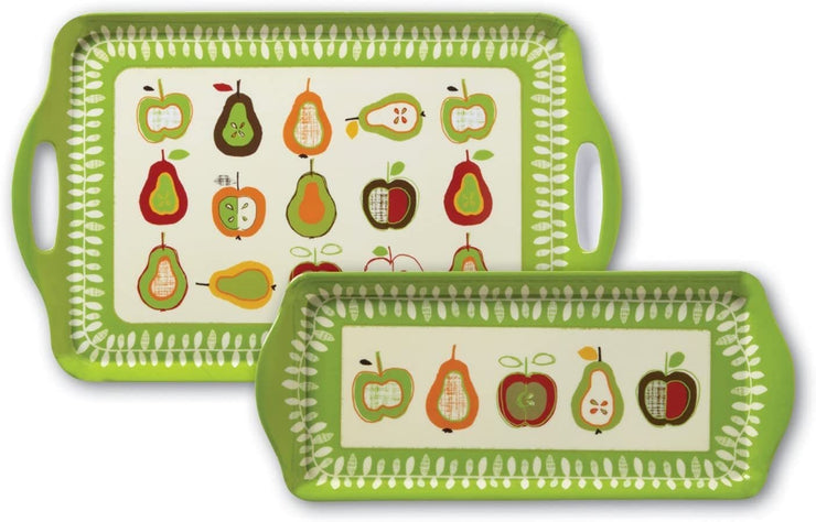 Cooksmart - Apples and Pears Design Small Melamine Tray - Simply Life