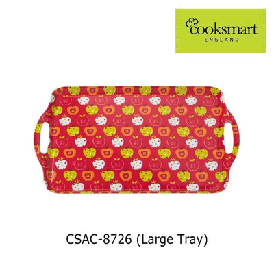 Cooksmart - Apples Design Large Melamine Tray - Simply Life