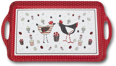 Cooksmart - Chicken Design Large Melamine Tray - Simply Life