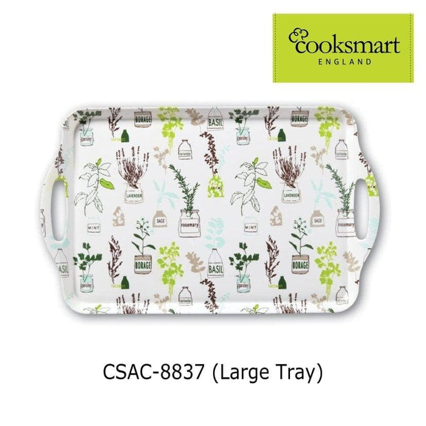 Cooksmart - Herb Garden Design Large Melamine Tray - Simply Life