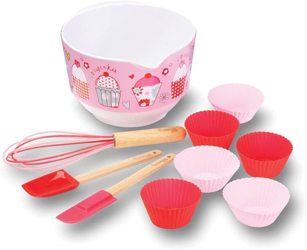 Cooksmart - Kids Cupcake 10-Piece Mixing Bowl Set - Simply Life