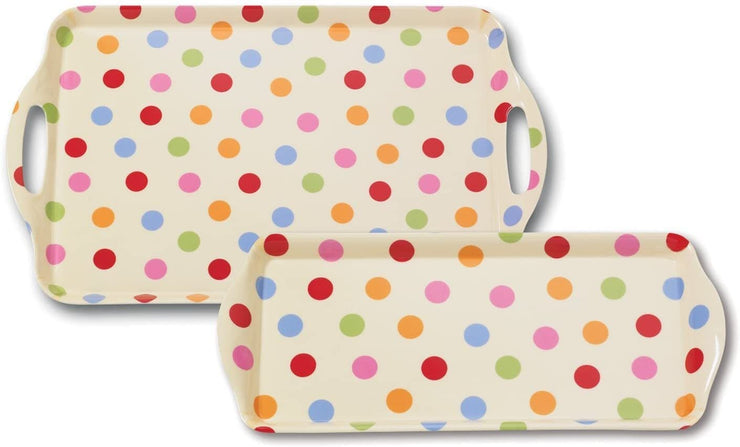 Cooksmart - Spots Design Large Melamine Tray - Simply Life