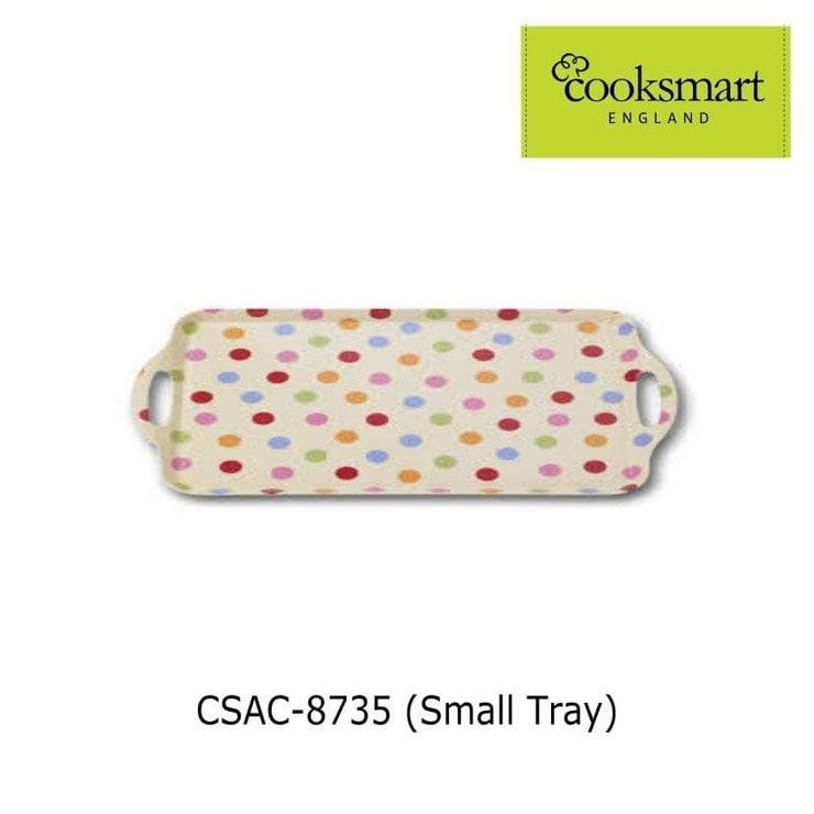 Cooksmart - Spots Design Small Melamine Tray - Simply Life