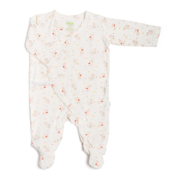 Crowned Lamb - Long-sleeved Kimono Sleepsuit with Footie by simplylifebaby
